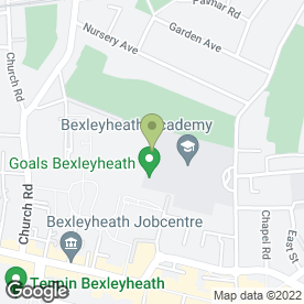 Map of Goals Soccer Centres in Bexleyheath, kent