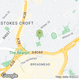 Map of Tree Aid in Bristol, avon