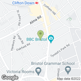 Map of Quinn Clinics in Clifton, Bristol, avon