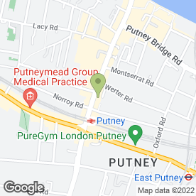 Map of Greggs in Putney, London, london
