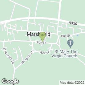 Map of CATHERINE WHEEL in Marshfield, Chippenham, wiltshire