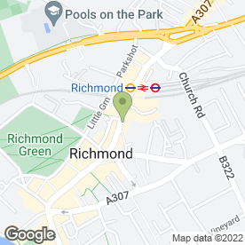 Map of Blacks in Richmond, surrey