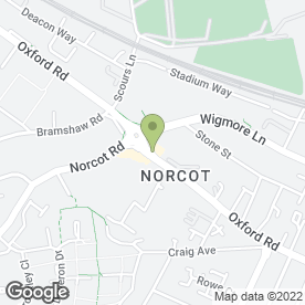 Map of Norcot P.O in Reading, berkshire