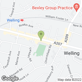 Map of Benmores Furniture & Beds in Welling, kent