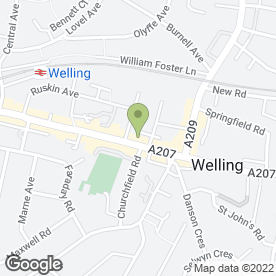 Map of Ann Sterling in Welling, kent