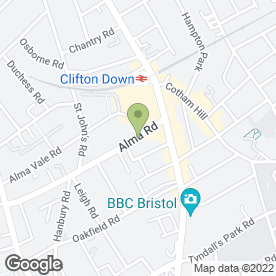 Map of The Body Centre in Clifton, Bristol, avon