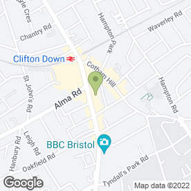 Map of All Night Media in Bristol, avon