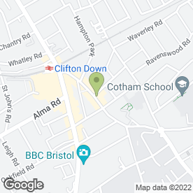 Map of Staffords Launderettes in Cotham, Bristol, avon