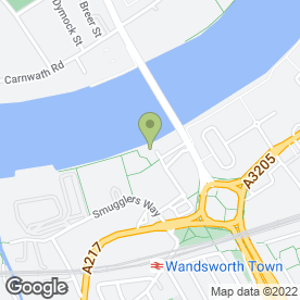 Map of The Ship Inn in Wandsworth, London, london