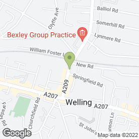 Map of ADEN SECURITY LOCKSMITHS in Welling, kent