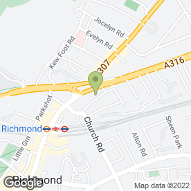 Map of We Buy Scrap Cars in Richmond, surrey