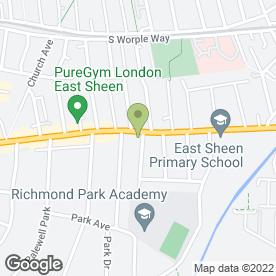 Map of Abbott Delves in East Sheen, London, london