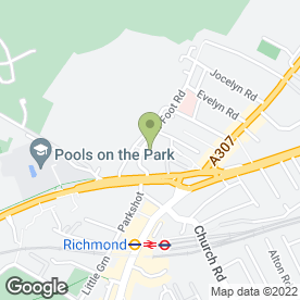 Map of Richmond Heating And Boiler Specialists in Richmond, surrey