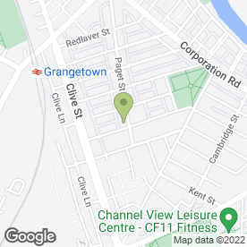 Map of Grange Albion Sport & Social Club in Cardiff, south glamorgan