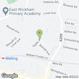 Map of GB Plastering in Welling, kent