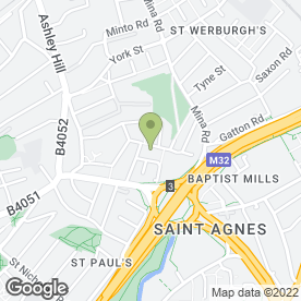 Map of Parkway Parent & Child Project in St. Werburghs, Bristol, avon