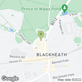Map of Kinleigh Folkard & Hayward Letting Agents in Blackheath, london