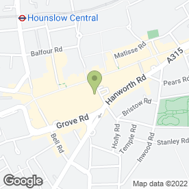 Map of T-Mobile (UK) Ltd in Hounslow, middlesex