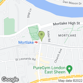 Map of Mortlake Station Garage in London, london