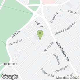 Map of Mornington House Day Nursery in Clifton, Bristol, avon