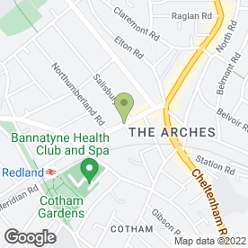 Map of Zetland Veterinary Hospital in Bristol, avon