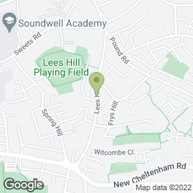 Map of Hamptons Removals in Bristol, avon