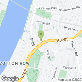 Map of Battersea Bar in London, london