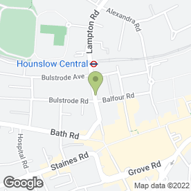 Map of The Continental Hotel in Hounslow, middlesex