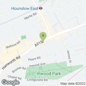 Map of Bab-e-Khybar in Hounslow, middlesex