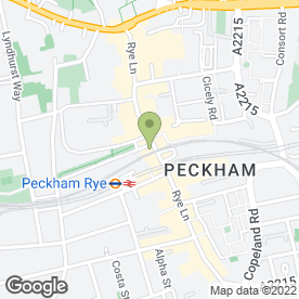Map of McDonald's Restaurants Ltd in Peckham, London, london