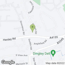 Map of J.P Motors in Caversham, Reading, berkshire