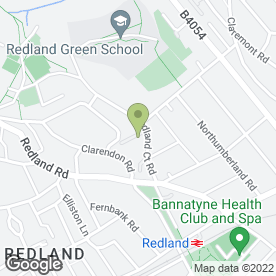 Map of Redland High School for Girls in Bristol, avon