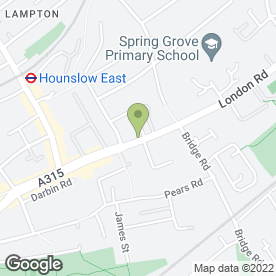 Map of The Coach & Horses in Hounslow, middlesex