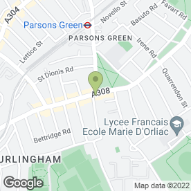 Map of Aragon House in London, london