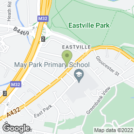 Map of B P FRAMES LTD in Eastville, Bristol, avon