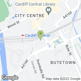 Map of JACOBS ANTIQUE CENTRE in Cardiff, south glamorgan