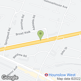 Map of DHL in Hounslow, middlesex