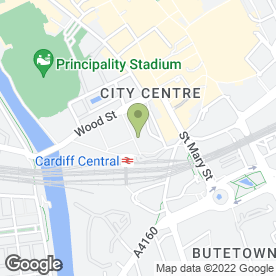 Map of Upper Crust in CARDIFF, south glamorgan
