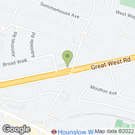 Map of Flamin' Grill in Hounslow, middlesex