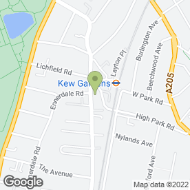 Map of Toffee Apples (Childrens Caterers) in Richmond, surrey