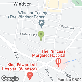 Map of Windsor Bride in Windsor, berkshire