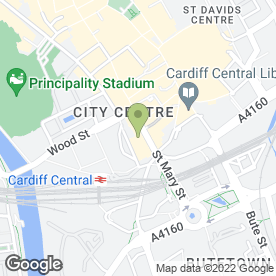 Map of The Philharmonic in Cardiff, south glamorgan