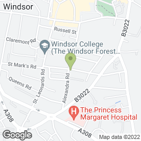 Map of Sonics Services in Windsor, berkshire