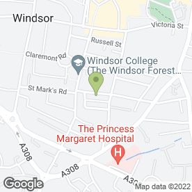 Map of Catherine Fisher Design & Couture in Windsor, berkshire