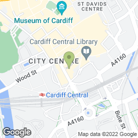Map of Peppermint Bar in Cardiff, south glamorgan