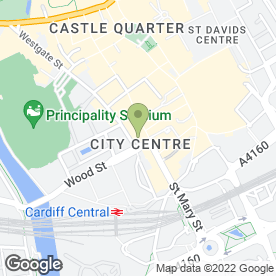 Map of Reflex in Cardiff, south glamorgan