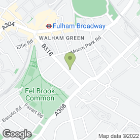 Map of Fulham Roofing in London, london