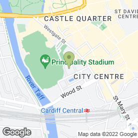 Map of South Wales Fork Trucks Hire Ltd in Cardiff, south glamorgan