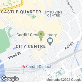 Map of Capital Take Away in Cardiff, south glamorgan