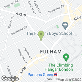 Map of Fulham Heating And Boiler Specialists in London, london